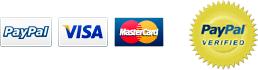Accepting Paypal, Visa, Mastercard. Paypal verified.